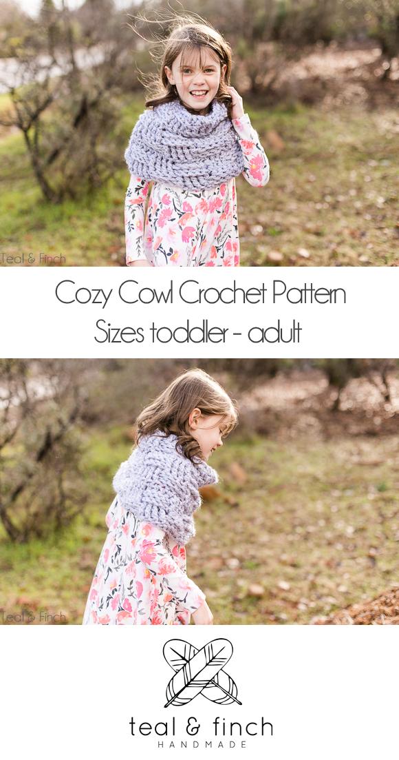 cozy cowl crochet pattern