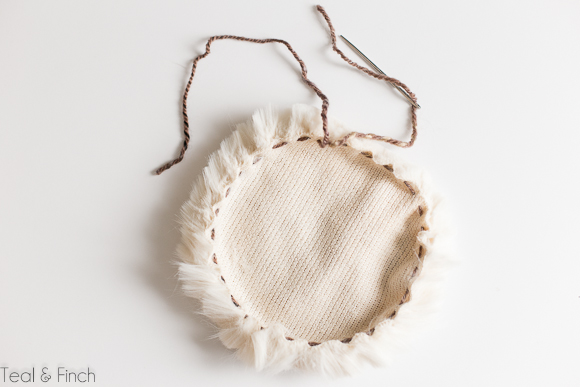 faux fur pom hat free crochet pattern