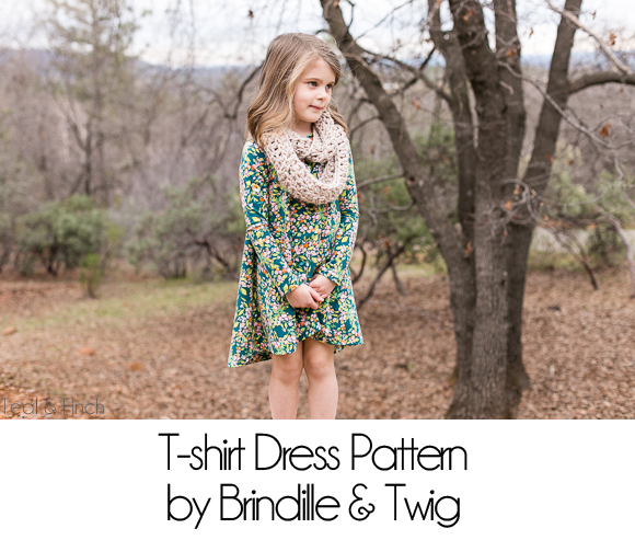 T Shirt Dress Pattern By Brindille Twig Teal Finch