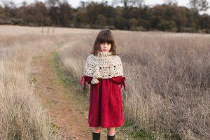 Granny Square Capelet free crochet pattern